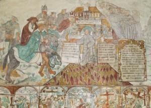 Protestantisk kalkmaleri fra Brøns Kirke ca. 1531 Foto: Lennart S. Madsen, Museum Sønderjylland - Arkæologi Haderslev