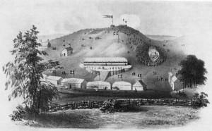 Dansk folkemøde på Skamlingsbanken 1844 Tegning: Museum Sønderjylland – ISL. Scanning: do.